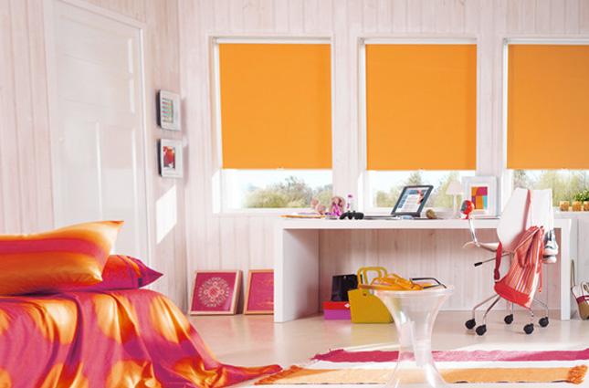 рулонные шторы фото в детскую